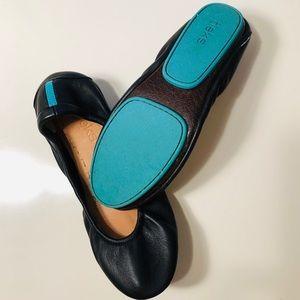 "Black Leather ""Tieks"" Ballet Flat"